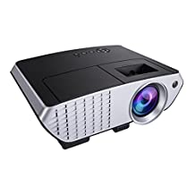 LED Projector,ELEGIANT 2000 Lumens HD 5-inch LCD Display LED Protable Multimedia with Remote Control Built-in Stereo Speakers for Home Theater Cinema Video Games support 1080P 3D HD USB HDMI AV VGA SD BLACK