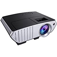 LED Projector,ELEGIANT Portable HD LCD Projector 2000 Lumens Multimedia Projector Support 1080P USB AV VGA SD Built-in Stereo Speakers for Home Theater Cinema Video Games