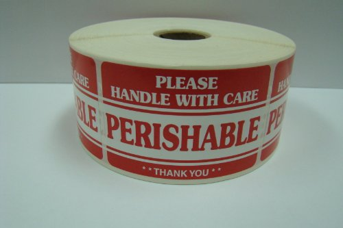 1 Roll of 500 2x3 PERISHABLE Handle with Care Shipping Mailing Labels Stickers