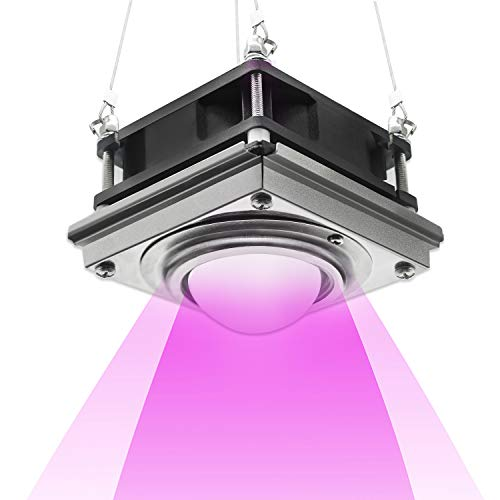 LED Grow Light,Bermunavy Full Spectrum Grow Light,150W COB Plant Grow Lights with Rear Fan Hooks,Plant Growing Lamp with New Technology for Indoor Plants Seed Starting Greenhouse