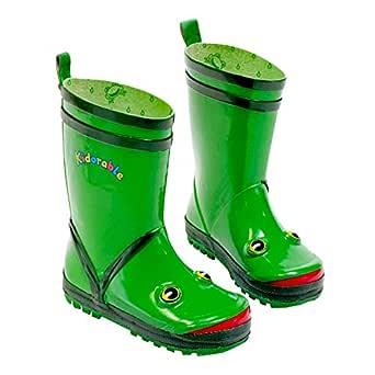 Kidorable Boy's Frog Rain Boot, Green, 1 M US Little Kid
