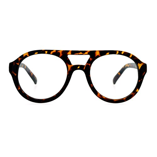 SA106 Retro Flat Top Round Plastic Aviator Shape Eye Glasses Matte - Plastic Eyeglasses Aviator