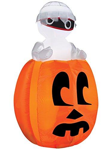 Gemmy Airblown Peeking Mummy Out Of Pumpkin -