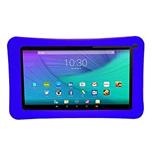 Transwon Silicone Case for AOSON M753, Aceson A7 7, RCA RCT6272W23, AOSON Android 4.4 Allwinner A33, Nuvision 7 Tablet, Astro Tab A737, Digiland DL718M, Polaroid PTAB735, Azpen A746 - Navy Blue