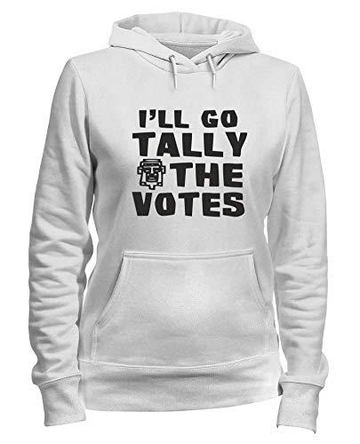 Donna Go Tally Felpa Votes Ash Cappuccio Oldeng00124 Ill Bianca The 7ddRUxS