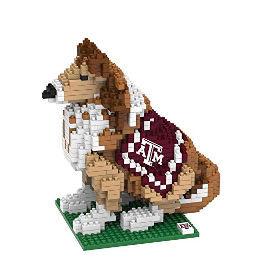 FOCO NCAA Texas A&M Aggies 3D Brxlz Mascot Building Blocks SET3D Brxlz Mascot Building Blocks Set, Team Color, One Size