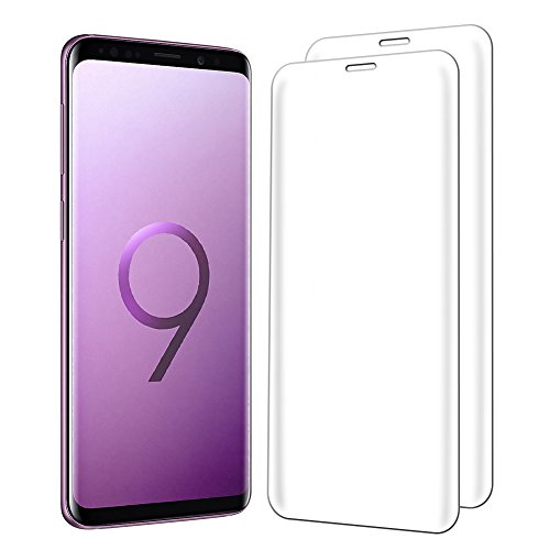 Samsung Galaxy S9 Plus Screen Protector, Hattomen Tempered Glass Screen Protector [9H Hardness] [Anti-Fingerprint] [Ultra-Clear] [Bubble Free] [Case Friendly] for Galaxy S9 Plus - 2 Pack