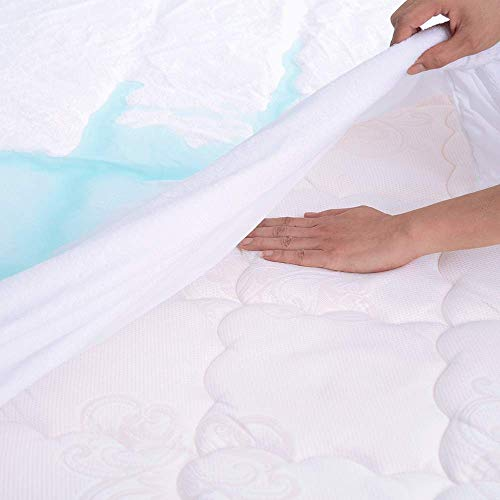 (Premium Full Mattress Protector Waterproof, Fitted Sheet Mattress Cover, Bed Bug Proof, 3D Breathable Hypoallergenic - Vinyl Free)