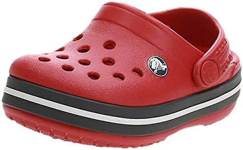 Crocs Kids' Crocband Clog, Red (Pepper