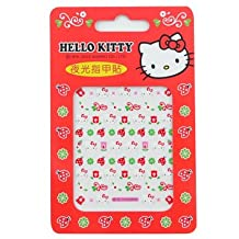 Hello Kitty Nail Decal Stickers: Ladybugs, Flowers & Clover