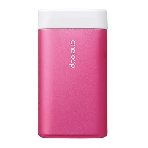Sanyo Eneloop Kairo Rechargeable Portable Double Sided Electric Hand Warmer Pink