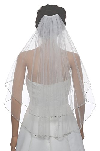 Silver Crystal Beaded Bridal Length product image