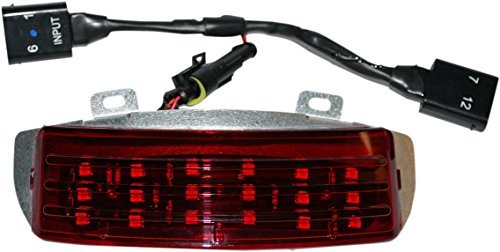 Custom Dynamics RIV-TRI-2-RED Fender Tip Light (Red Low-Profile Tri-Bar LED For 2010-2013 Harley-Davidson FLXS Street Glide and FLTRX Road Glide Models)