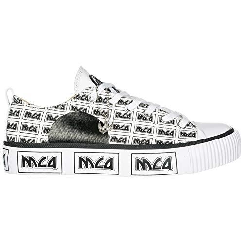 Alexander Mcqueen Mens - McQ Alexander McQueen Men Plimsoll Sneakers White - Black 8 US