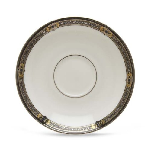 Lenox Vintage Jewel Platinum-Banded Bone China Saucer