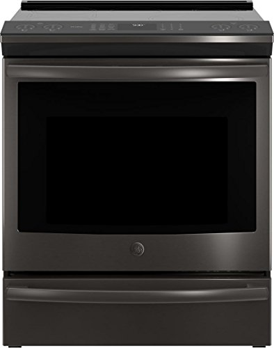 GE Profile PHS930FLDS Black Slate Series 30 Inch Slide-in Electric Range with 5 Elements, Smoothtop, 5.3 cu. ft. Primary Oven Capacity, in Black Slate