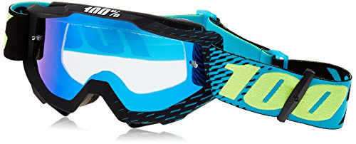 - 100% 50210-201-02 Unisex-Adult R-Core Accuri Goggles With Mirrored Lens (Cyan,One Size Fits Most)