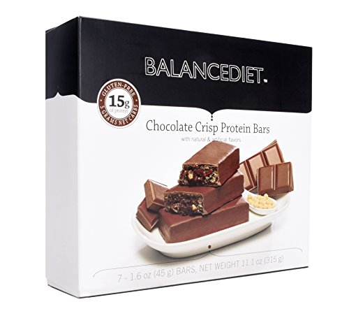 BalanceDietTM | Protein Bar | 15g of Protein | Low Carb | 7 Bar Box (Chocolate Crisp)