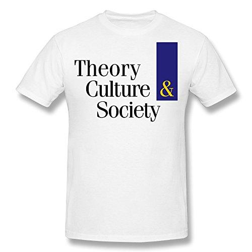 XiangXiangli Mens Theory Culturesociety Logo Colour Crew Neck T Shirts M White (Pepsi Man Ps1)
