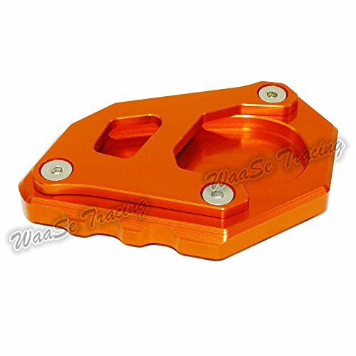 waase Motorcycle Kickstand Foot Side Stand Extension Pad Support Plate For KTM 1050 1090 1190 1290 Adventure (Orange)
