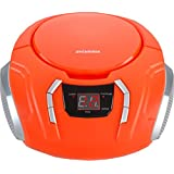 Sylvania Portable CD Boombox with AM/FM Radio, Orange