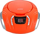 Sylvania Portable CD Boombox with AM/FM Radio (Orange)