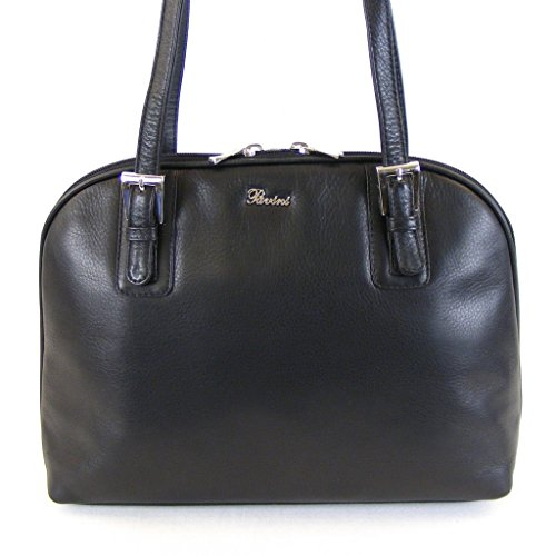 Leder Tasche 12760 Reißverschluss Shopper Fach Classics Damen Pavini schwarz RV ZIBHxq1wn