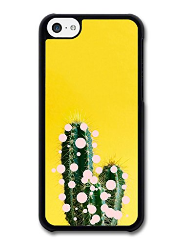 Cool Pop Art Cactus on Yellow with Shapes Design case for iPhone 5C