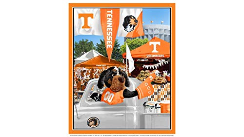 University of Tennessee Cotton Fabric Panel with Tailgate Design-Sold by The Panel