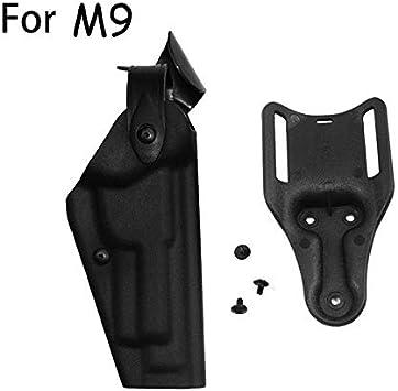 NO LOGO L-Yune, Funda de Pistola táctica de Caza Militar Airsoft for Glock 17 19 USP Colt 1911 M9 P226 Funda de Pistola de Combate con Paleta de Cintura (Color : M9)