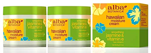 Alba Botanica Hawaiian Moisture Cream, Soothing Jasmine & Vitamin E 3 oz (Pack of 2)