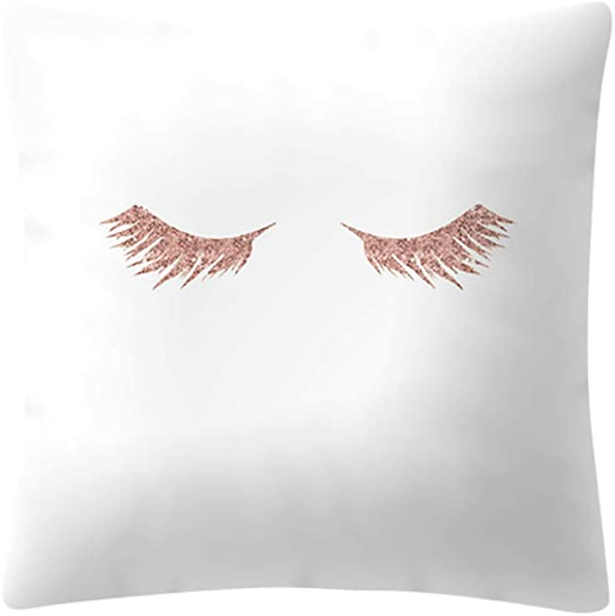 Jimmackey 1pc Oro Rosa Stampa Federe Vita Cuscino Casa Divano Decor Copricuscini Caso Protezioni per Cuscini