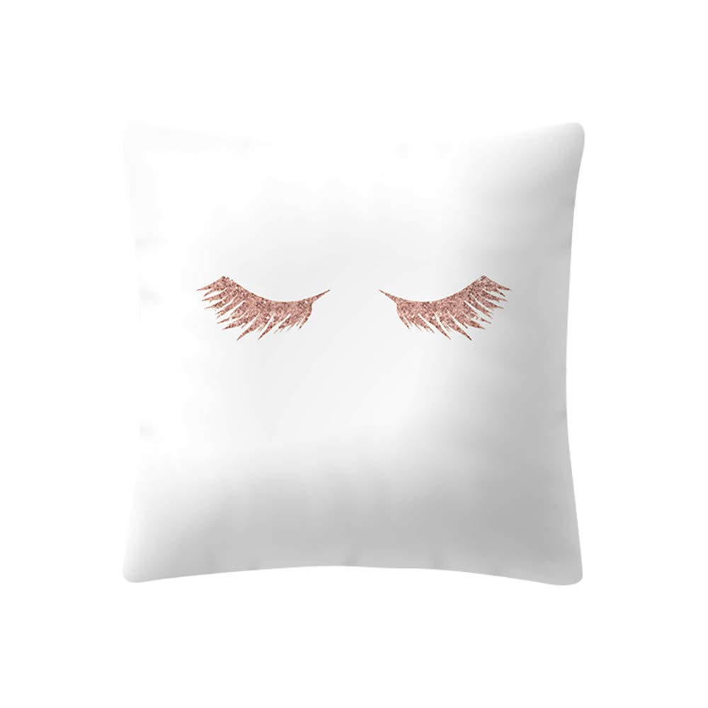 POPLY Rose Gold Pink Cushion Cover Square Pillowcase Home DecoratioHome Car Decor, 18x18/45 * 45cm 18x18/45 * 45cm