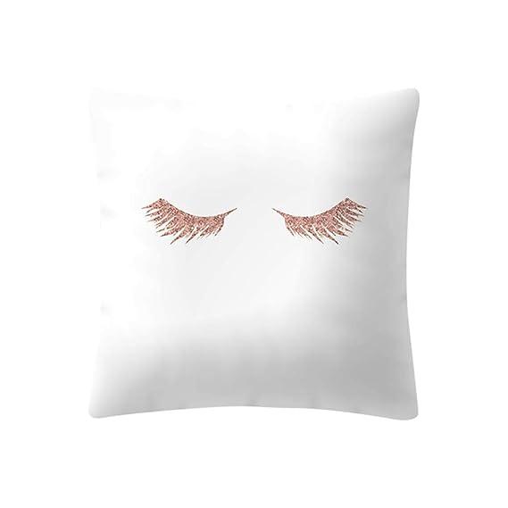 Longra ☂☂ ☂☂ ☂☂❤️❤️ Almohada Decorativa con Relleno,Funda de cojín Rosa Rosa Dorada Funda de Almohada Decoración para el hogar