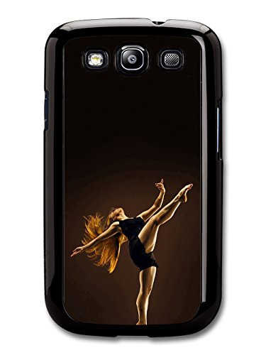 Ballet Contemporary Dancer with Red Hair Black Swan coque pour Samsung Galaxy S3