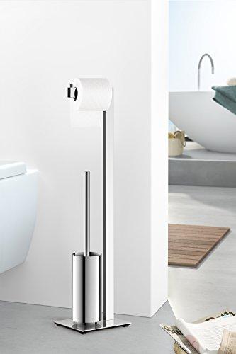 Zack 40027 Linea Toilet Butler Brush, 28.54-Inch, Grey, High Glossy Finish by Zack (Image #2)
