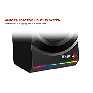 Sound BlasterX Kratos S5 2.1 PC Computer Gaming Speaker System with Subwoofer and Customizable RGB Lighting
