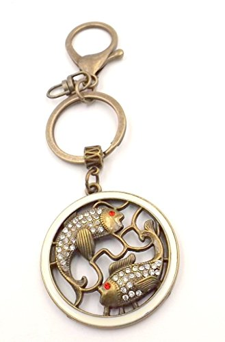 Design Collection Bronze Earth - Bronze Koi Fish Keychain Bag Car Accessory Pocket Ring Personalization Ocean Lovers Collection