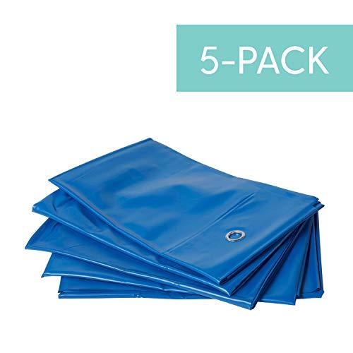 Preschool Dividers - Hanging Rest Mat Sanitary Divider - Reusable Partition for Preschool/Daycare Nap Mats (5-Pack) - Blue