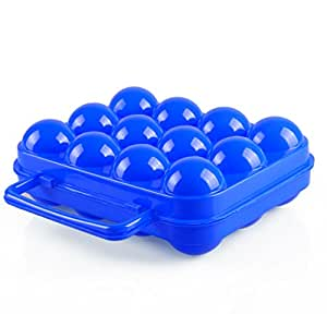 Aisport Barbecue Supplies 12 Egg Case Box (Blue)