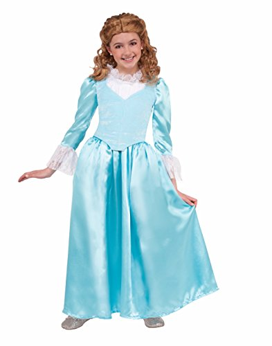 Forum Novelties Kids Colonial Lady Costume, Blue, Large