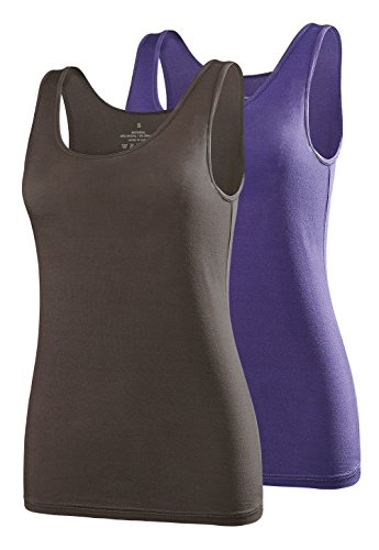Air Curvey Womens Tank Tops Scoop Neck Tanks Sleeveless Shirts Tank Top Dark Blue Coffee S ()