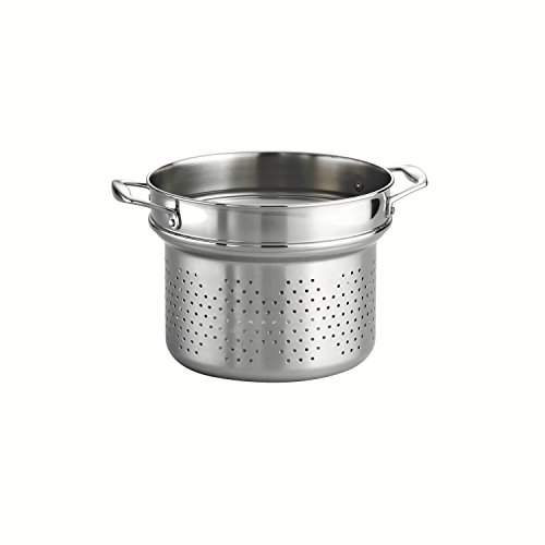 Tramontina 80116/042DS Gourmet 18/10 Stainless Steel Pasta Insert, Stainless