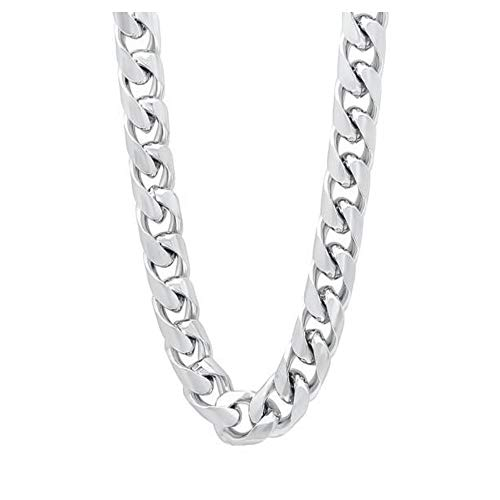 Verona Jewelers Sterling Silver 9MM Curb Cuban Link Chain Necklace for Men- 925 Made in Italy (30)