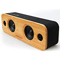 AOMAIS Life 30W Bluetooth Speakers, Loud Bamboo Wood Home...