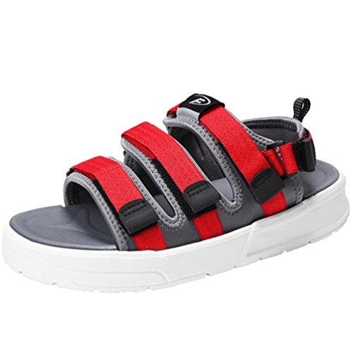 読み書きのできないブロックする厚さ厚底 サンダル メンズ スポーツサンダル ビーチ マジックテープ オフィス メッシュ 通気性 軽量 アウトドア ランニング 水陸両用 歩きやすいトラベル 夏 スリッパ 海水浴 靴 シューズ ウォーキング