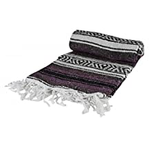 Authentic 6' x 5' Mexican Siesta Blanket (Assorted Colors)
