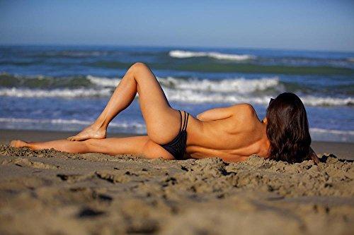 Naked Girl Costumes (LAMINATED 36x24 POSTER: Sea Sand Beach Onda Feet Wind Sun Dune Girl Naked Costume Femininity Nude Woman Beauty Charm Emotion Body Sexy Sensuality Elegant Young Woman Female Legs Breast)