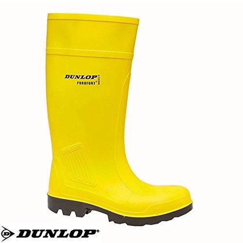 Dunlop S5 Pu En Purofort Jaune Botas C462241 8Ep7q8d