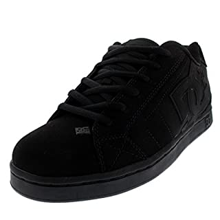 DC mens Net Skate Shoe, Black/Black/Black, 7.5 US